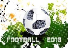 Fútbol 2018, Moscú Rusia ilustración del vector