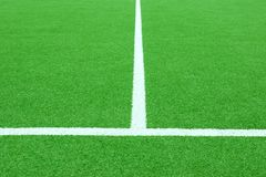 Fútbol o campo sintético de Footbal Fotos de archivo libres de regalías