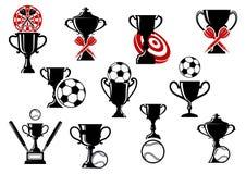 Fútbol o fútbol, dardos, competencia del béisbol Fotografía de archivo libre de regalías