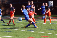 Fútbol para mujer del NCAA DIV III de la universidad Foto de archivo