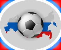 Fútbol Rusia del fondo del campeonato del fútbol stock de ilustración
