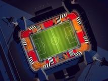 fútbol stadium Fotos de archivo libres de regalías