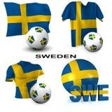 Fútbol sueco stock de ilustración