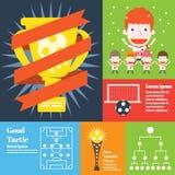 Fútbol Tactican ilustración del vector