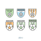 Fútbol, vector Logo Set del fútbol Fotografía de archivo