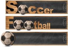 Fútbol y fútbol - tres banderas libre illustration