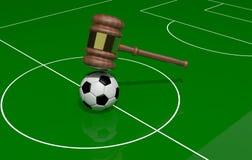 Fútbol y justicia ilustración del vector