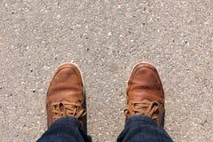 Füße auf Asphalt Lizenzfreies Stockbild