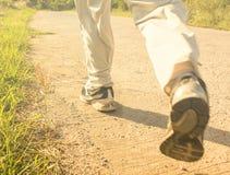 Füße auf dem Laufen Stockfotografie