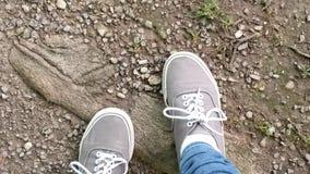 Füße aus den Grund Stockfotografie