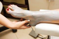 Füße Behandlung lizenzfreie stockfotos