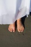 Füße der Braut Stockbilder