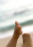 Füße in der Luft Lizenzfreie Stockfotos