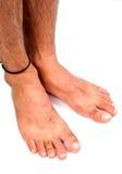 Füße der Männer Stockfoto
