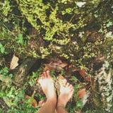 Füße in der Natur lizenzfreie stockfotos