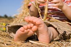 Füße des Schätzchens Stockfotografie