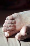 Füße einer alten Frau Stockfotografie