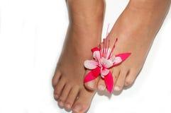 Füße einer Frau Stockfoto