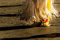 Füße eines traditionellen matachin Mexikanertänzers Stockfotografie