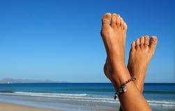 Füße im Feiertag Lizenzfreies Stockbild