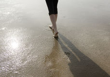 Füße im Wattenmeer Stockbilder