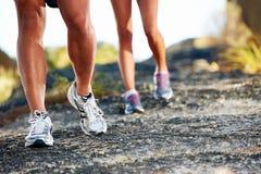 Füße Laufen im Freien Stockbild