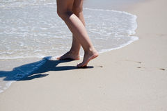 Füße Markierungen stockfotografie