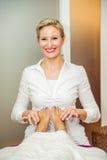 Füße Massage- Stockfoto