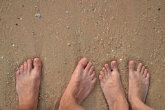 Füße Paare Lizenzfreie Stockfotos