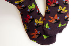 Füße Truthahnsocken tragend lizenzfreie stockfotos