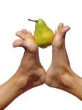 Füße u. Birne Stockbilder