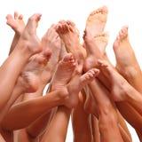 Füße und BADEKURORT Lizenzfreies Stockfoto
