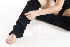 Füße und Hände Stockfotografie