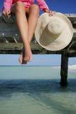 Füße und Hut stockfotos