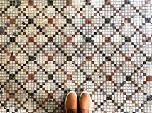 Füße und Mosaik Lizenzfreies Stockfoto