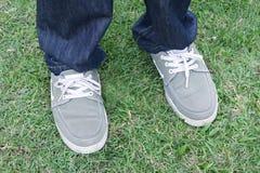 Füße und Schuhe Stockfotografie