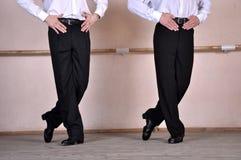 Füße von zwei irischen Tänzern Lizenzfreies Stockfoto