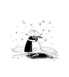 Füchse und Sterne Lizenzfreie Stockfotografie