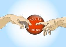 Fügen Sie als Freund hinzu Lizenzfreie Stockfotografie