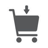 Fügen Sie Einkaufsdiagrammvektorikone hinzu Lizenzfreie Stockfotografie