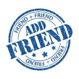 Fügen Sie Freund hinzu Stockbild