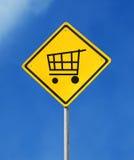 Fügen Sie Wagenzeichen hinzu Lizenzfreies Stockfoto