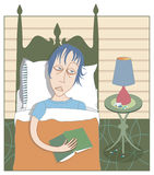 Fühlen blau oder deprimiert? Stockfotografie