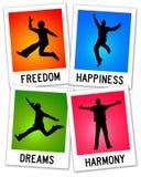 Fühlen glücklich lizenzfreie abbildung