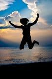 Fühlen Sie sich frei und glücklich stockbilder