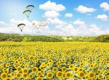 Fühlen Sie sich frei zu fliegen, lieben Sie Sie mit Herzen Stockfoto
