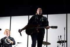 Führen indie Musikband Arcade Fires im Konzert an Primavera-Ton 2017 durch Stockbilder