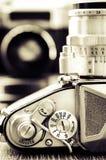 Führen Sie Ansicht der klassischen Kamera mit nettem bokeh einzeln auf Stockfotografie