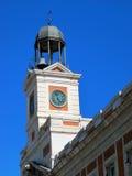 Führen Sie Borduhr von Puerta Del Sol in Madrid Spanien einzeln auf Stockfotos
