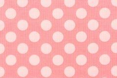 Führen Sie Muster des roten Leders mit rosa Punkt einzeln auf Lizenzfreies Stockbild